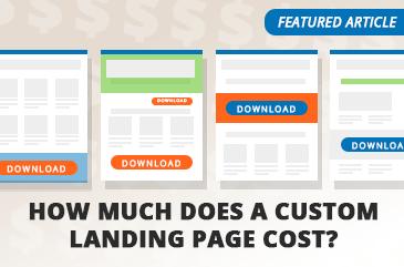 custom landing page cost