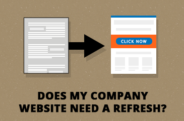 when to update company website